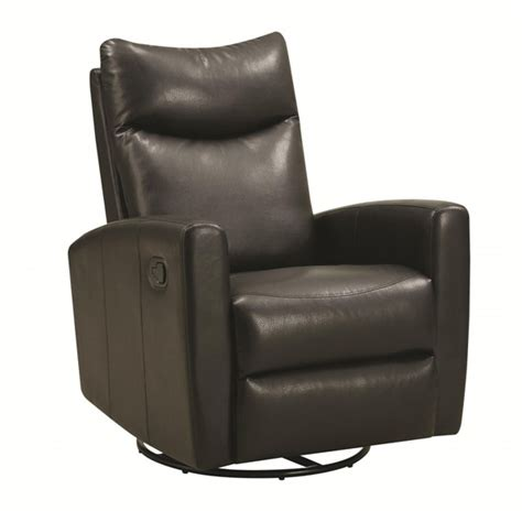 soft leather recliner black bonded leather swivel recliner w soft headrest the