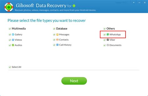 whatsapp recovery android restore deleted whatsapp messages from android gihosoft