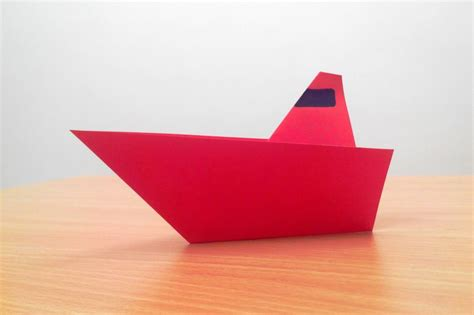 Step By Step Origami Boat - free coloring pages how to make an origami boat step by