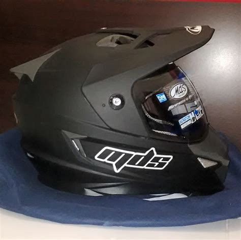 Helm Mds Supermoto Hitam jual mds superpro solid supermoto toko helm