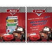 Disney Cars Birthday Invitations  Party Ideas