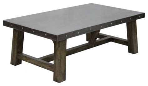 zinc coffee table industrial coffee tables other