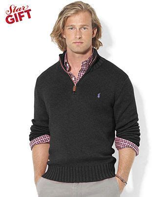 polo ralph sweater half zip mock neck high twist