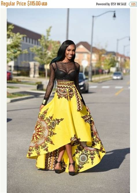 african attire skirt holiday quick ship sale yellow african print skirt by