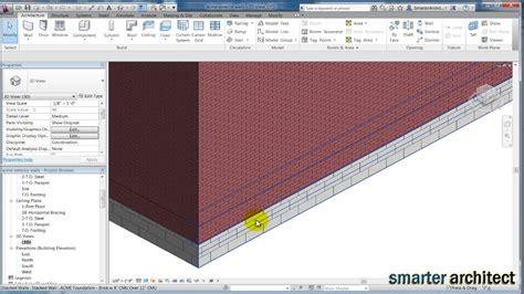 revit tutorial walls revit tutorials creating revit stacked wall foundation