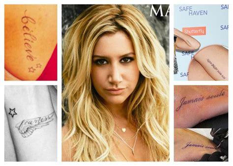 ashley tisdale tattoos tisdale tattoos tattoos and piercings