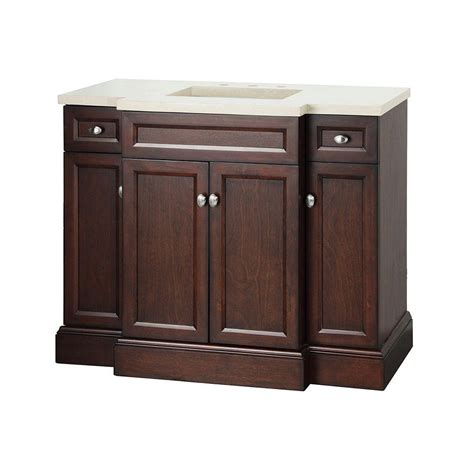 Home Depot Bathroom Sink Vanity Foremost Bathroom Teagen 42 In Vanity In Espresso With Engineered Vanity Top In