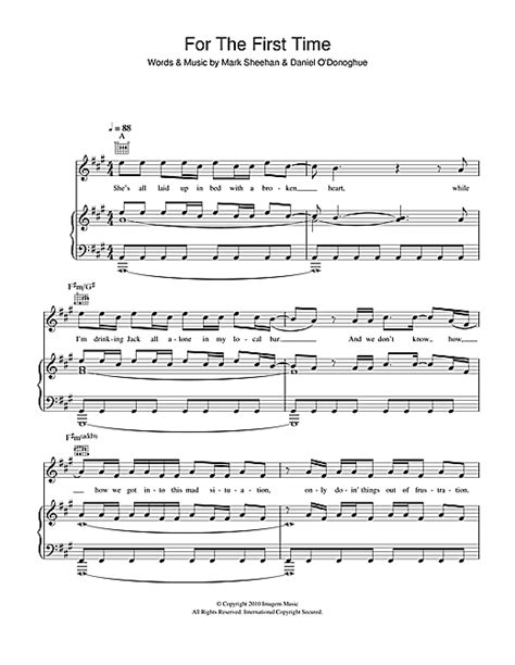 The Script For The First Time Guitar Chords