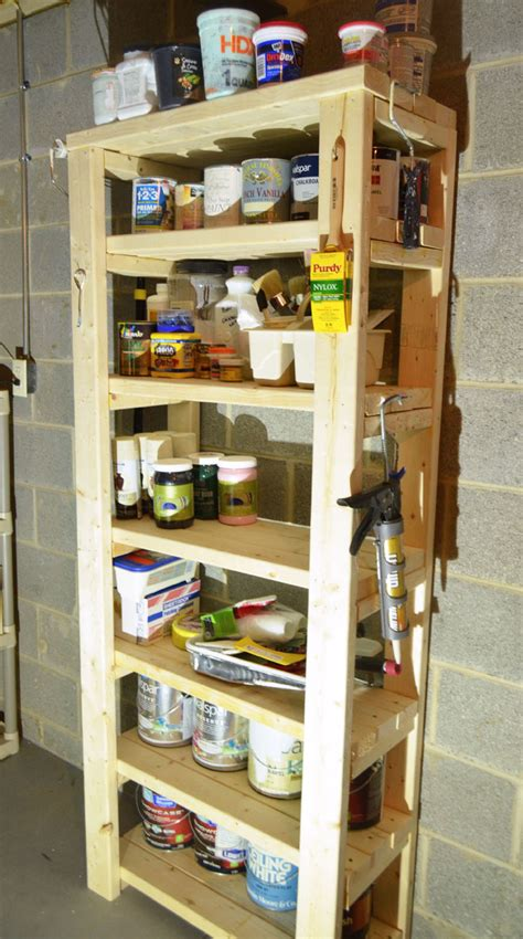 Paint Shelf by Paint Storage Shelf Made With 2x4s Create And Babble