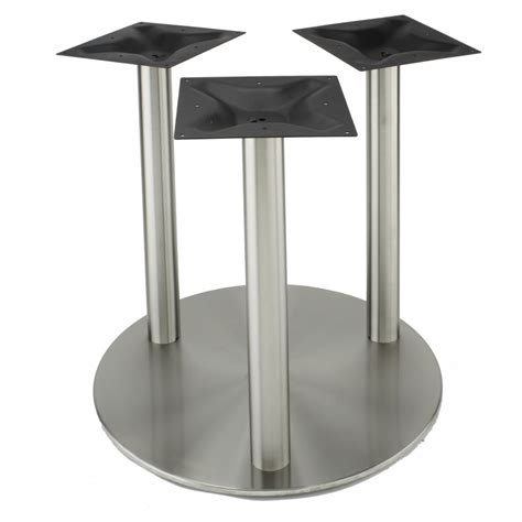 Rfl750x3 Stainless Steel Table Base Tablebases Com Steel Dining Table Base