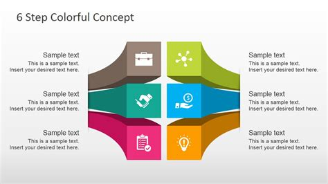 free powerpoint diagram templates free 6 steps colorful diagram for powerpoint slidemodel