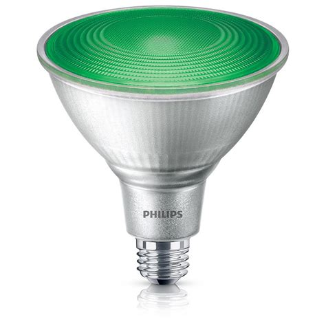 Colored Outdoor Light Bulbs Philips 90w Equivalent Par38 Green Led Flood Light Bulb 4 Pack 469098 The Home Depot