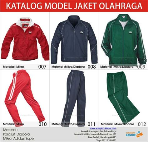Jaket Parasut Untuk Olahraga jaket olahraga konveksi seragam kantor