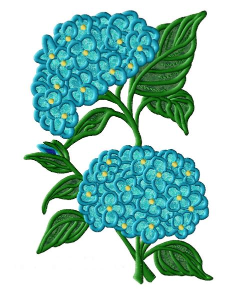 hydrangea applique machine embroidery designs by sew swell