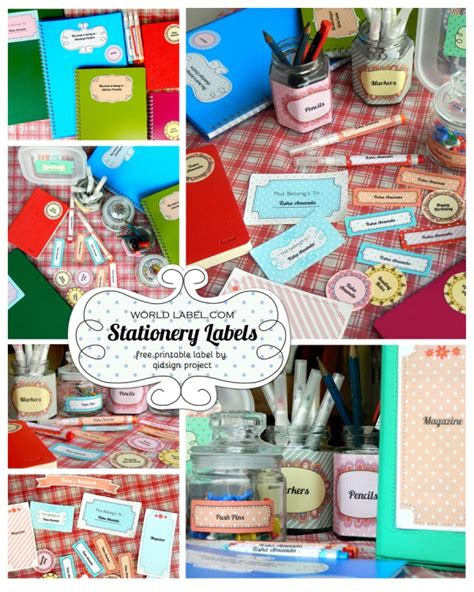Free Stationery And Multi Purpose Labels Worldlabel Blog Stationery Labels Templates