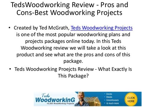 tedswoodworkingreview pros  cons  woodworking projects