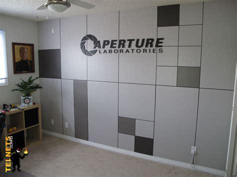 portal room portal fan turns computer room into aperture science office