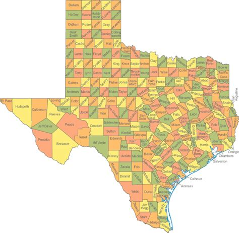 texas official travel map texas tx travel around usa