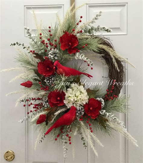 wreath decorations christmas wreath cardinal wreath elegant christmas wreath
