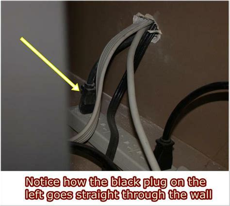extension cords through walls