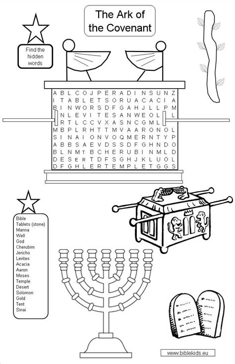 Ark Of Covenant Clipart 45 Childrens Colouring In L