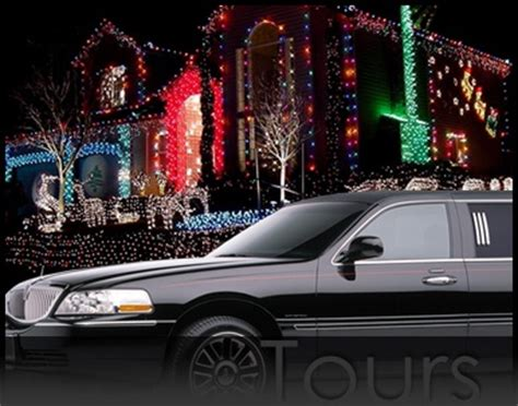 christmas light limo tour christmas decorating