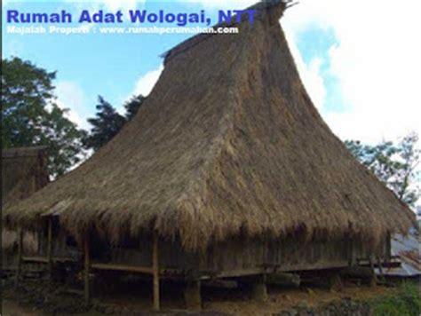 desain gapura dari tongkat desain bentuk rumah adat wologai dan penjelasannya rumah