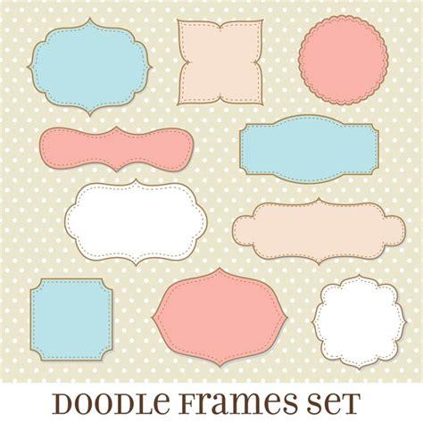 printable shapes for scrapbooking doodle frame frames and borders clipart frames