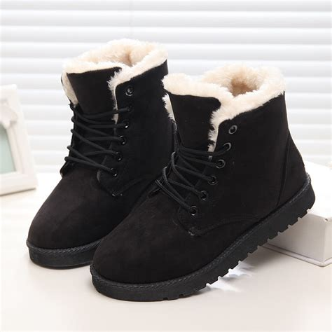 winter boots classic winter boots suede ankle snow boots