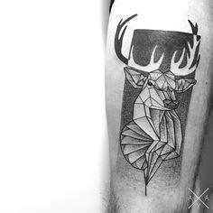 geometric tattoo calgary geometric stag tattoo design by nirvanaoftime deviantart