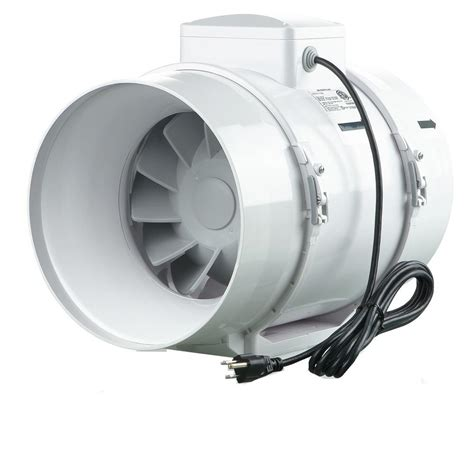 grow room exhaust fan vents 473 cfm power 8 in mixed flow in line duct fan tt