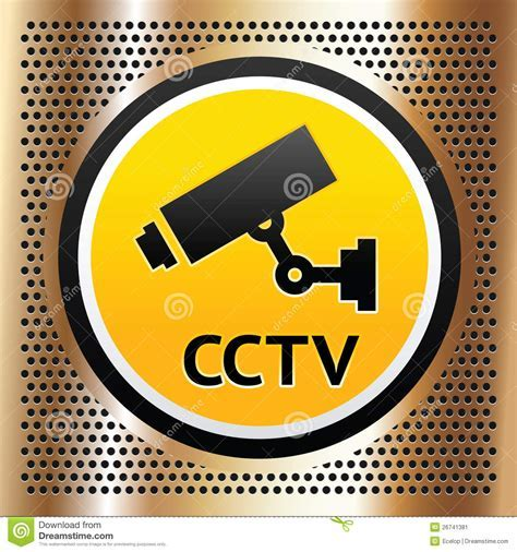 CCTV Symbol On A Golden Background Stock Image   Image