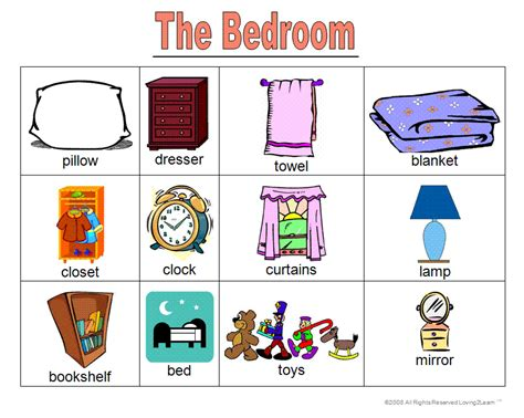 word for bedroom learning new words house bedroom kitchen bathroom