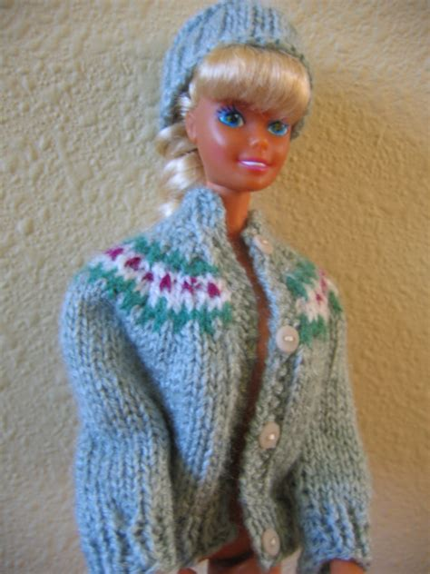 pattern for barbie doll jeans hand knit barbie doll clothes pattern yoke sweater fits 11 1 2