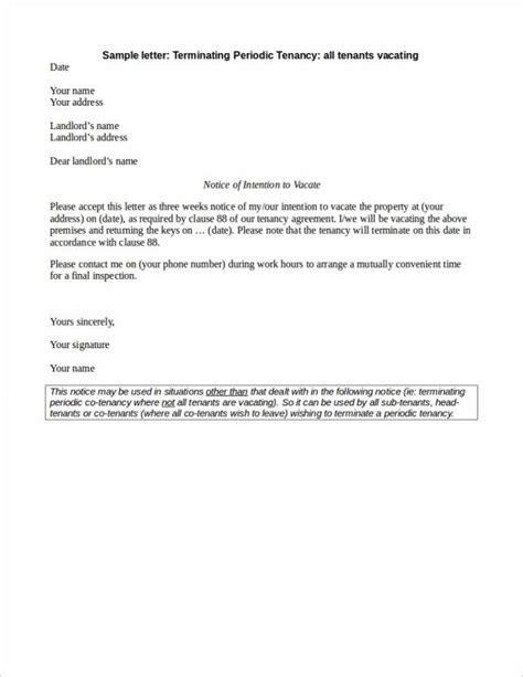 letter template tenancy termination 24 lease termination letter sles templates sle