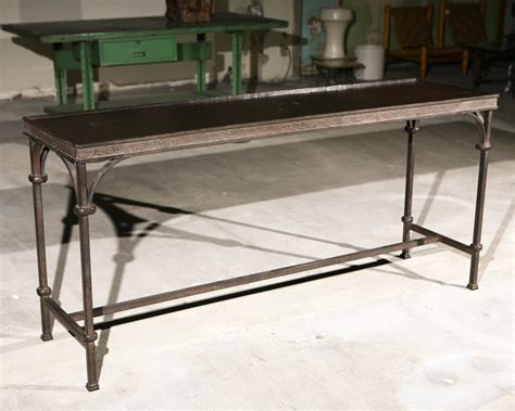 rod iron sofa table wrought iron console table at 1stdibs