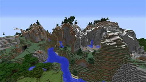 minecraft seeds seed epic mountains image gallery minecraft mountain