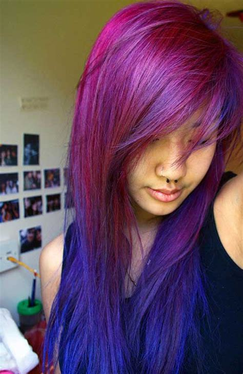 faded colour hairstyles 20 best funky haircuts for long hair hairstyles