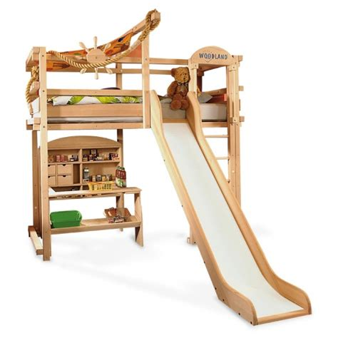 Slide For Bunk Bed Bunk Beds With Slide And Desk Bedroom Ideas Pictures