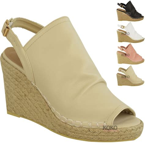 womens wedge slippers new womens espadrille wedge sandals platforms low