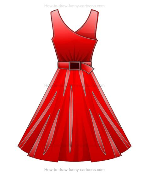 Drawing Dresses by How To Draw A Dress
