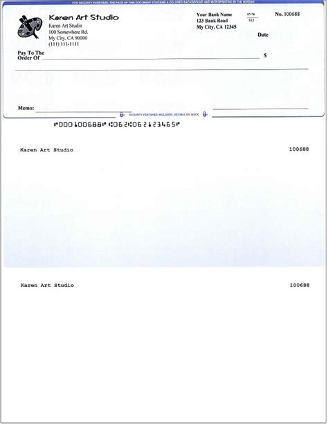 Blank Business Check Template Template Business Blank Check Template Word