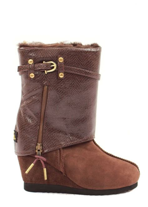 from australia snake zip wedge boots uk 3 8 ebay