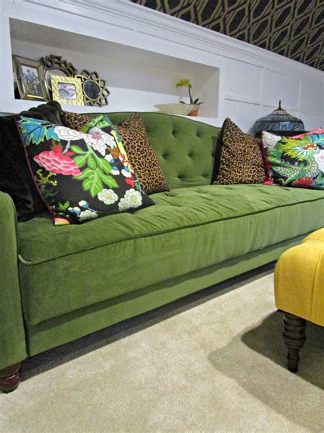 sofa with table built in built in console table behind tufted sofa knock it off kim