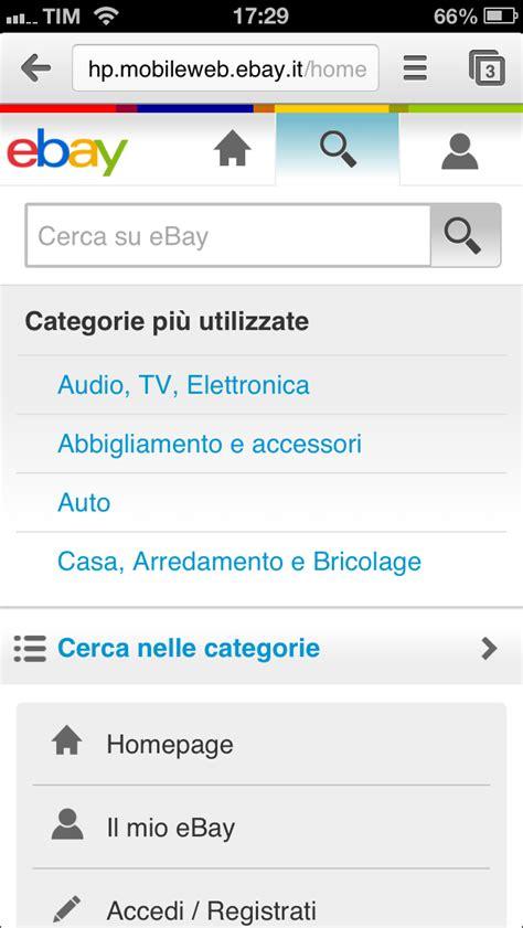 ebay site on mobile mobile presence app nativa o sito mobile responsive