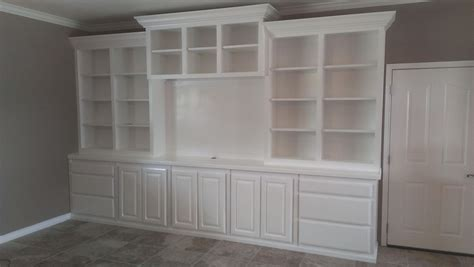 hand crafted painted built in tv cabinetry by tony o hand crafted large white wall unit by top quality cabinets