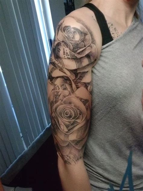 black rose sleeve tattoo black and white flower sleeve creativefan