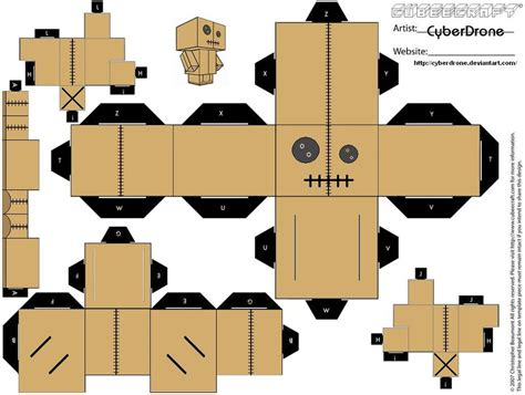 How To Make Papercraft Dolls - cubee voodoo doll by cyberdrone on deviantart
