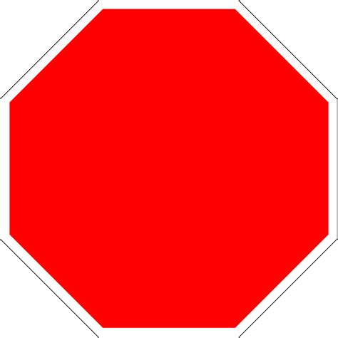 stop sign template free blank stop sign printable clipart best