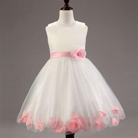 Dress Petal Princess summer babys dress 3 12t flower petal princess dress european and american style dress